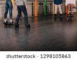 partial view of preteen roller... | Shutterstock . vector #1298105863