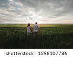 couple in sunset | Shutterstock . vector #1298107786