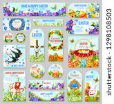 easter tag and label set for... | Shutterstock .eps vector #1298108503