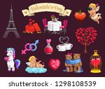 valentines day romantic love... | Shutterstock .eps vector #1298108539