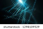 lights blue background with... | Shutterstock . vector #1298109529