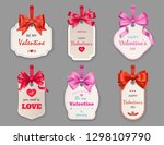 valentines day vector tags of... | Shutterstock .eps vector #1298109790
