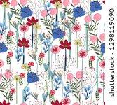 Flower Garden Colorful Seamles...
