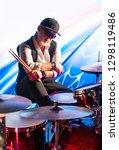 Drummer With Drum Sticks...