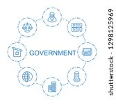government icons. trendy 8...   Shutterstock .eps vector #1298125969