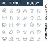 collection linear icons of... | Shutterstock .eps vector #1298126593