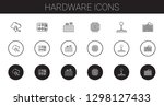 hardware icons set. collection... | Shutterstock .eps vector #1298127433