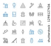 recreation icons set.... | Shutterstock .eps vector #1298127436