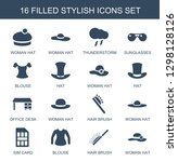 stylish icons. trendy 16... | Shutterstock .eps vector #1298128126