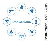 8 dangerous icons. trendy...   Shutterstock .eps vector #1298129386