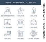 9 government icons. trendy...   Shutterstock .eps vector #1298129686