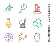 9 biology icons. trendy biology ... | Shutterstock .eps vector #1298133013