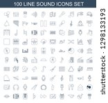 sound icons. trendy 100 sound... | Shutterstock .eps vector #1298133193