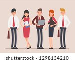 business people teamwork... | Shutterstock .eps vector #1298134210