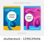 vector abstract cover design... | Shutterstock .eps vector #1298139646