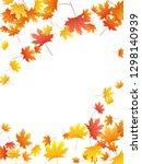 maple leaves vector background  ... | Shutterstock .eps vector #1298140939