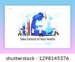 chemistry scientist laboratory... | Shutterstock .eps vector #1298145376
