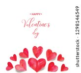 happy valentine s day.... | Shutterstock . vector #1298146549