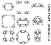 damask vector set of vintage... | Shutterstock .eps vector #1298148259