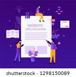 website specification concept.... | Shutterstock .eps vector #1298150089