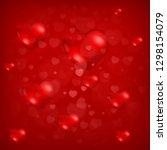 red heart background  love... | Shutterstock .eps vector #1298154079