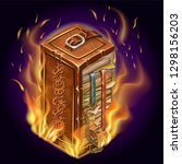 isometric old burning book of...