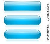 blue 3d glass buttons. vector... | Shutterstock .eps vector #1298158696