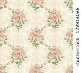 Rose Vintage Seamless Pattern