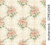 Rose Vintage Seamless Pattern