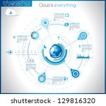 infographic template for... | Shutterstock .eps vector #129816320