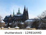 st vitus cathedral at prague... | Shutterstock . vector #129816440