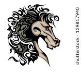 horse | Shutterstock .eps vector #129817940