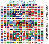 flags of the world against... | Shutterstock .eps vector #129818054