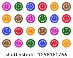 analog clock icons. white flat... | Shutterstock .eps vector #1298181766