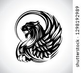 griffin for heraldry or tattoo  ... | Shutterstock .eps vector #1298192989