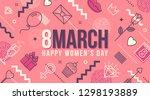 8 march international women's... | Shutterstock .eps vector #1298193889