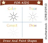 learn to draw and paint shapes. ... | Shutterstock .eps vector #1298193910