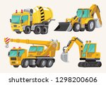 set of toy construction... | Shutterstock .eps vector #1298200606