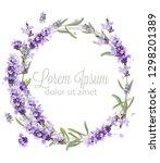 Lavender Wreath Card Watercolo...