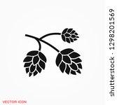 hop icon logo  illustration ... | Shutterstock .eps vector #1298201569