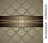 vintage card with a border on... | Shutterstock .eps vector #129820223