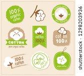 logo label pure cotton organic | Shutterstock .eps vector #1298203936
