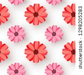 seamless pattern with realistic ... | Shutterstock .eps vector #1298205283