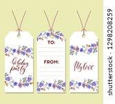 gift tags set for design.... | Shutterstock .eps vector #1298208259