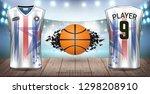basketball uniform   jersey ... | Shutterstock .eps vector #1298208910