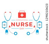 international nurses day... | Shutterstock .eps vector #1298210623