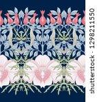 floral seamless pattern ... | Shutterstock .eps vector #1298211550