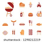 barbecue   food   iconset ... | Shutterstock .eps vector #1298212219