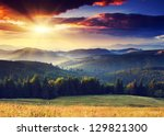 majestic sunset in the... | Shutterstock . vector #129821300