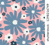 seamless repeating pattern with ... | Shutterstock .eps vector #1298216749